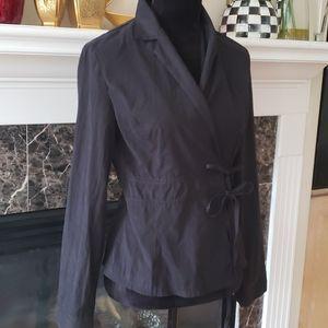 Dorin Frankfurt wrap blouse size 2